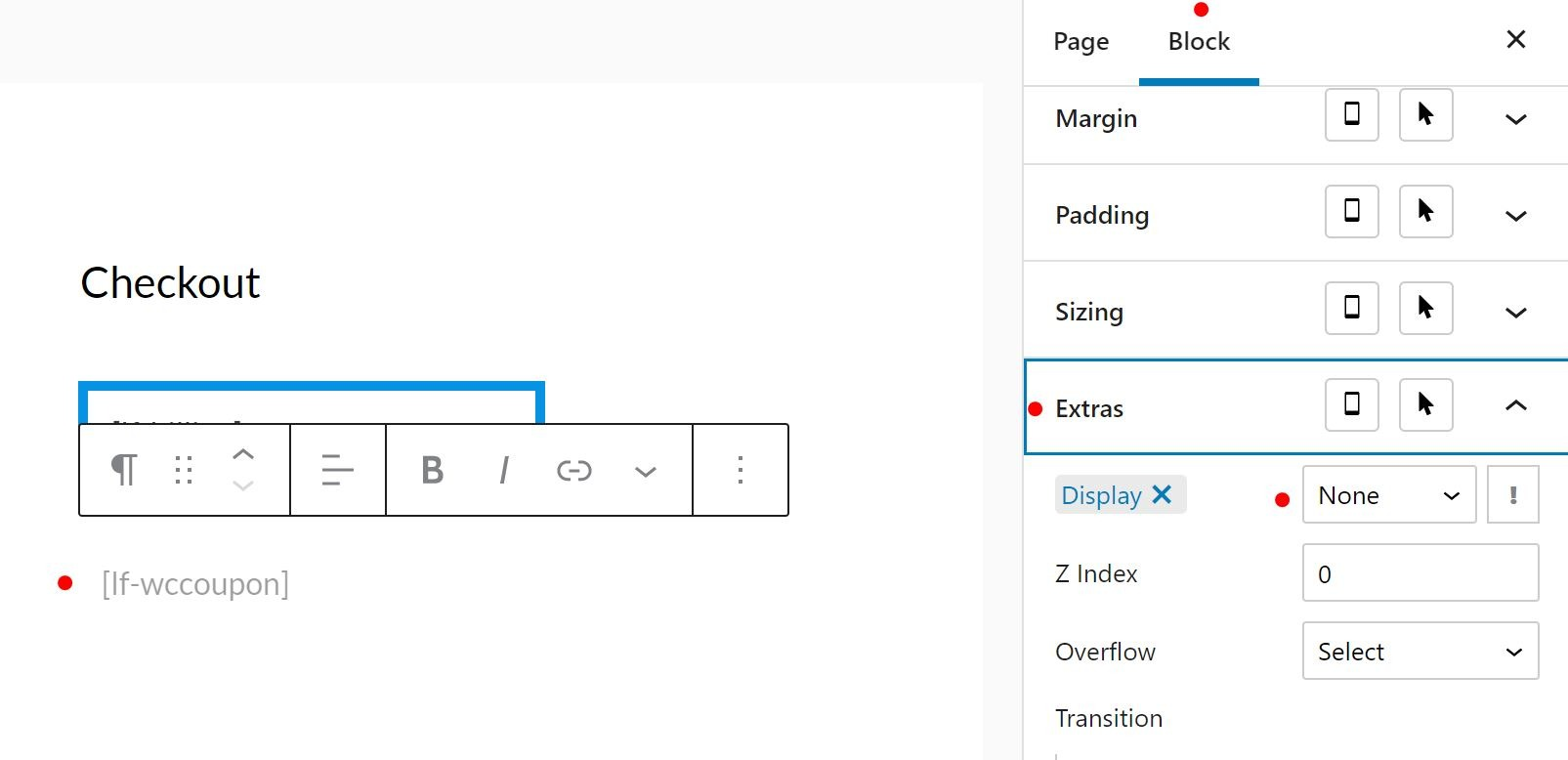 LaunchFlows Block Visibility With Editor Plus