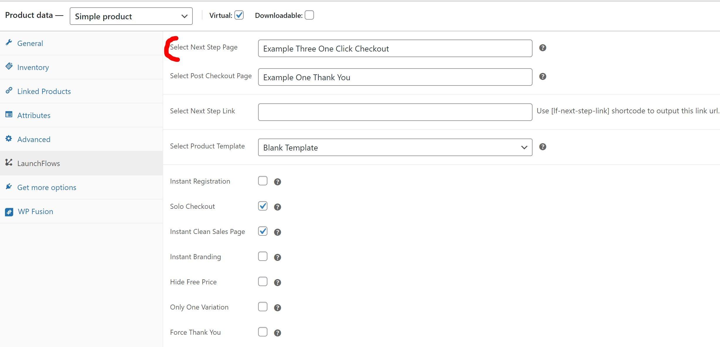 Setup Product To Use Auto Click Checkout